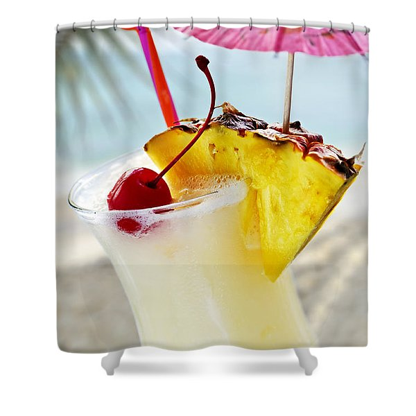 Pina colada Shower Curtain by Elena Elisseeva