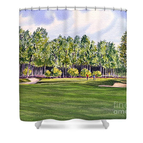 Pinehurst Golf Course 17TH Hole Shower Curtain by Bill Holkham
