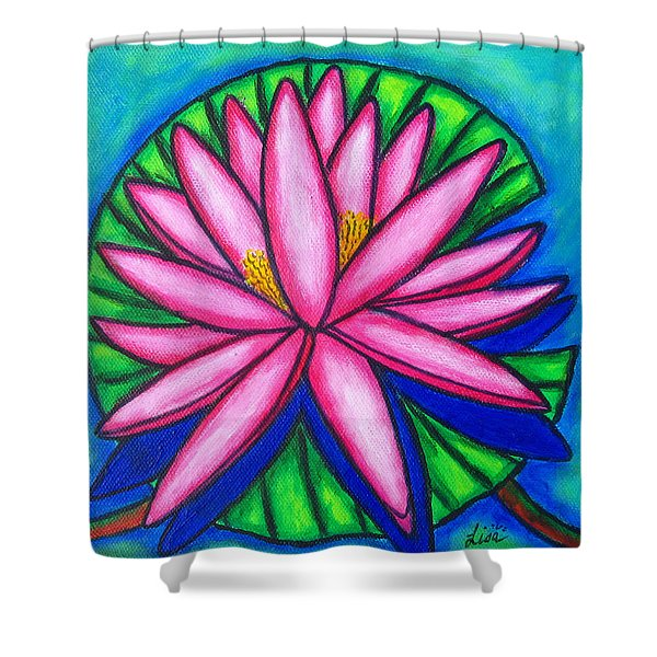 Pink Gem 2 Shower Curtain by Lisa  Lorenz