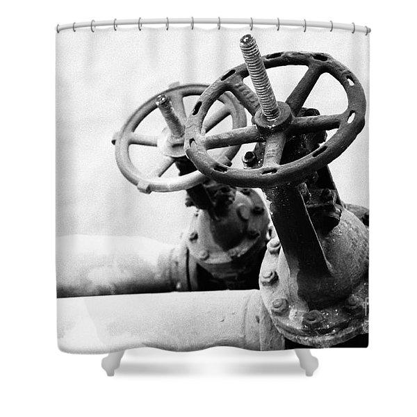 Pipeline valves Shower Curtain by Gaspar Avila