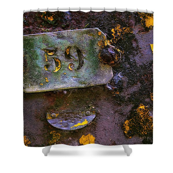 Plate 59 Shower Curtain by Carlos Caetano