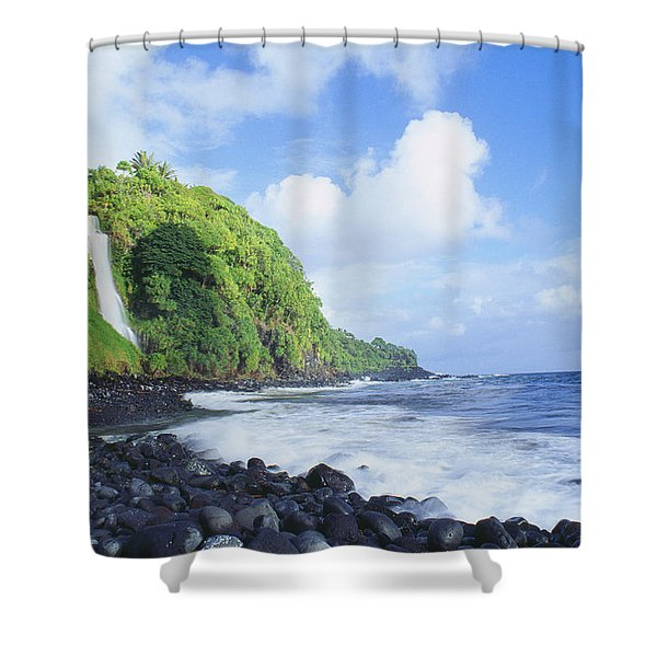 Pokupupu Point Shower Curtain by Peter French - Printscapes
