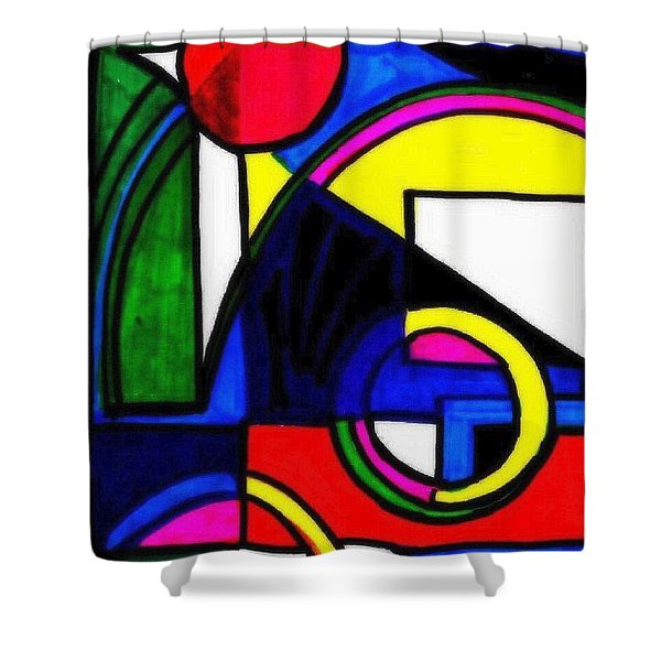 Pool Party Shower Curtain by WBK
