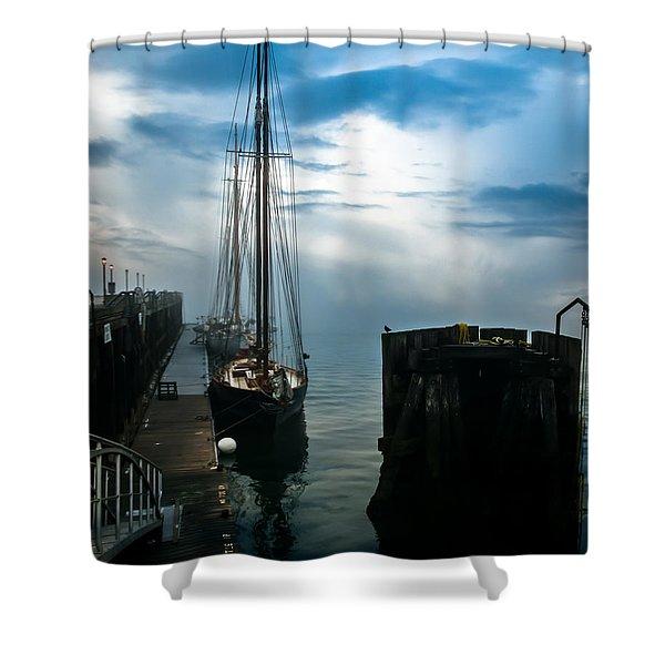 Portland Sunrise Shower Curtain by Bob Orsillo