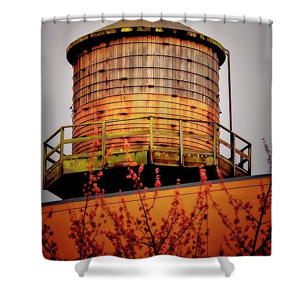 Portland Water Tower IIi Shower Curtain by Albert Seger