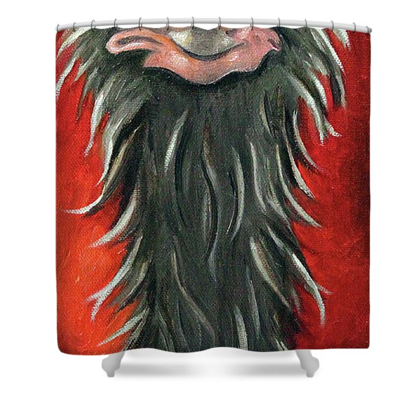 Poser 3 Shower Curtain by Leah Saulnier The Painting Maniac