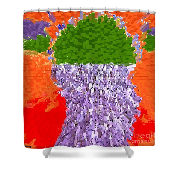POURING OUT THE MIND Shower Curtain by Patrick J Murphy