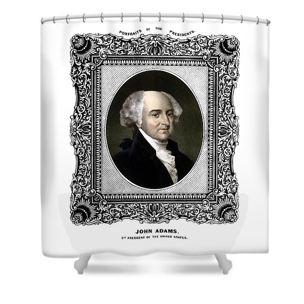 President John Adams Portrait  Shower Curtain by War Is Hell Store