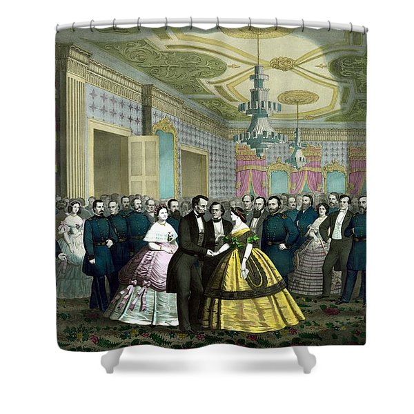 President Lincoln's Last Reception Shower Curtain by War Is Hell Store