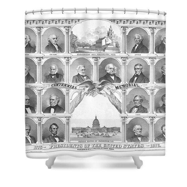 Presidents Of The United States 1776-1876 Shower Curtain by War Is Hell Store
