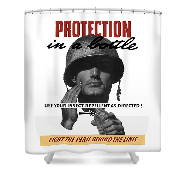 Protection In A Bottle Fight The Peril Behind The Lines Shower Curtain by War Is Hell Store