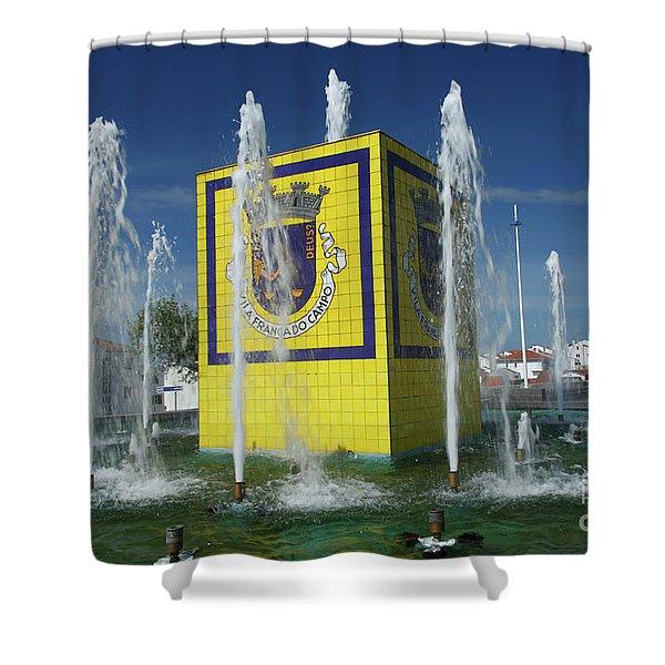 Public Fountain Shower Curtain by Gaspar Avila