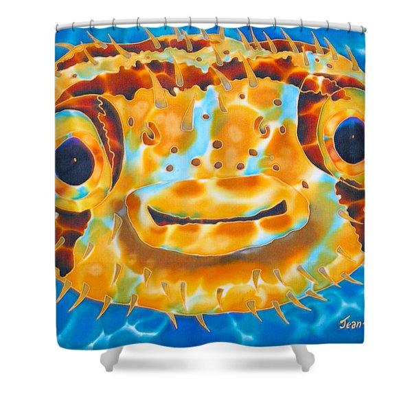 Puffer Fish Shower Curtain by Daniel Jean-Baptiste