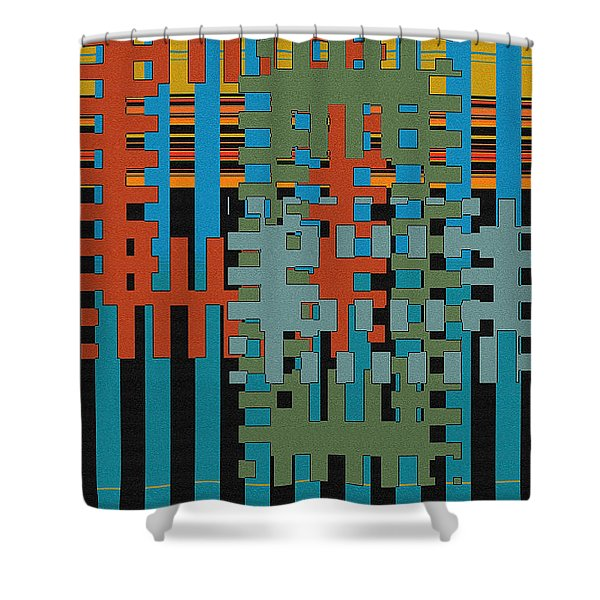 Puzzled Shower Curtain by Ben and Raisa Gertsberg