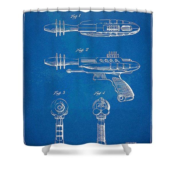 Pyrotomic Disintegrator Pistol Patent Shower Curtain by Nikki Marie Smith