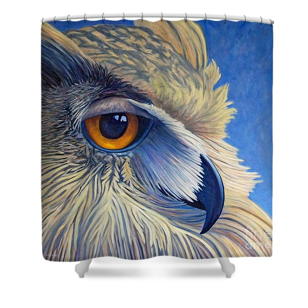 Quiet Joy Shower Curtain by Brian  Commerford