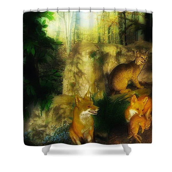 Rabbit Season Shower Curtain by Bill Cannon