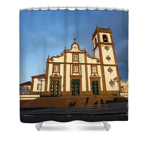 Rabo De Peixe Church Shower Curtain by Gaspar Avila