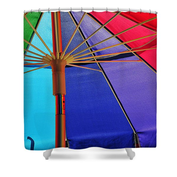 Rainbow Gathering Shower Curtain by Skip Hunt