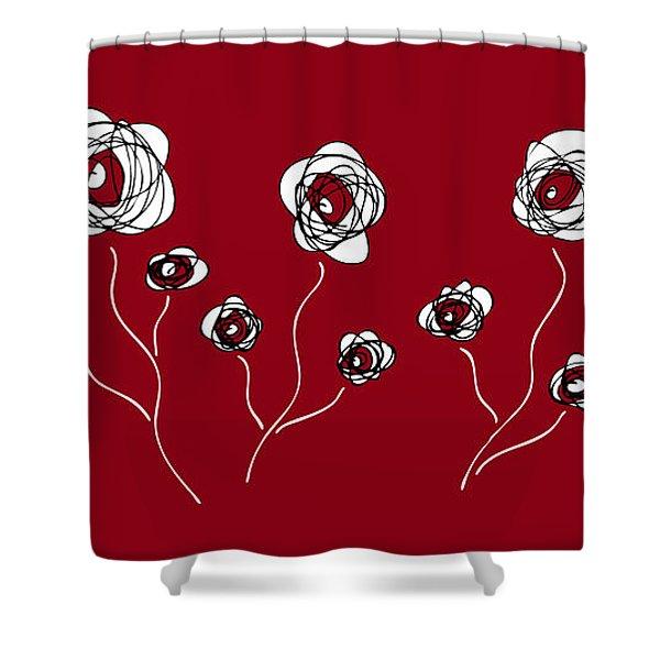 Shower Curtains - Ranunculus Shower Curtain by Frank Tschakert