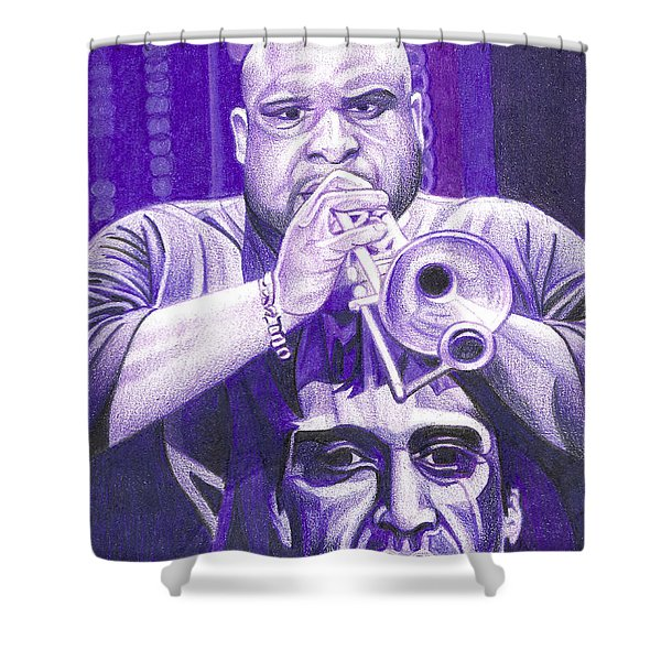 Rashawn Ross Shower Curtain by Joshua Morton