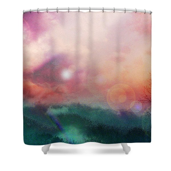 Ray Of Hope Shower Curtain by Linda Sannuti