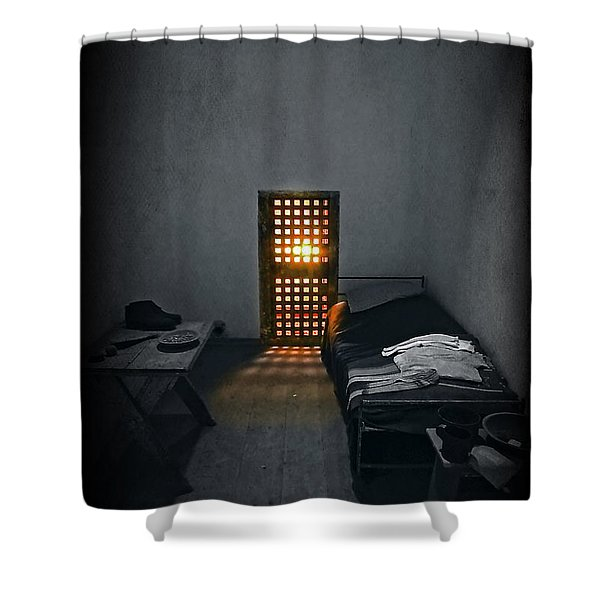 Rays Of Freedom Shower Curtain by Evelina Kremsdorf