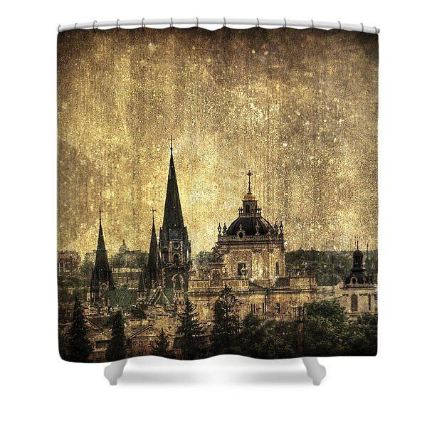 Reach Out Shower Curtain by Evelina Kremsdorf