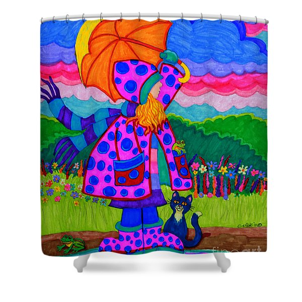 Ready For The Rain Shower Curtain by Nick Gustafson