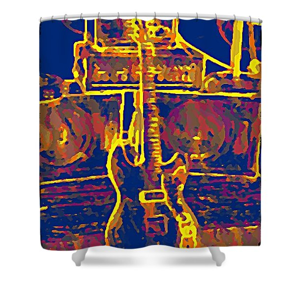 Ready To Rock Shower Curtain by Bill Cannon