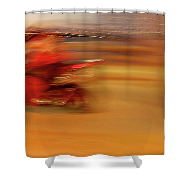 Red Hot Shower Curtain by Glennis Siverson