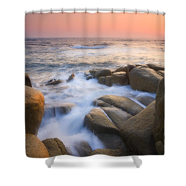 Red Sky At Morning Shower Curtain by Mike  Dawson