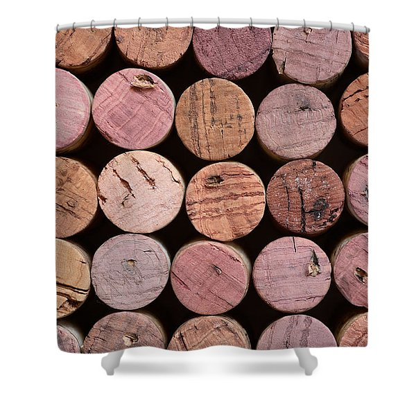 - Red Wine Corks 135 Shower Curtain by Frank Tschakert