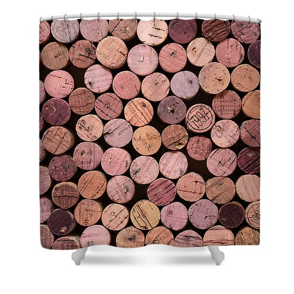 - Red Wine Corks 169 Shower Curtain by Frank Tschakert