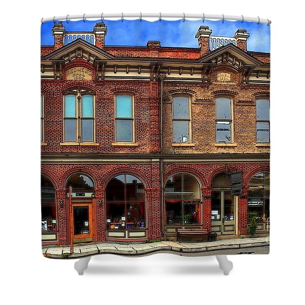 Redmens Hall - Jacksonville Oregon Shower Curtain by James Eddy