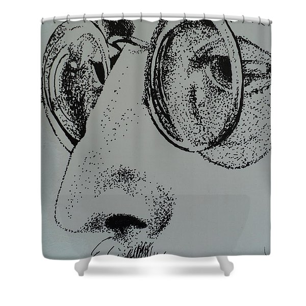 Reflections Of Peace John Lennon Shower Curtain by Carla Carson