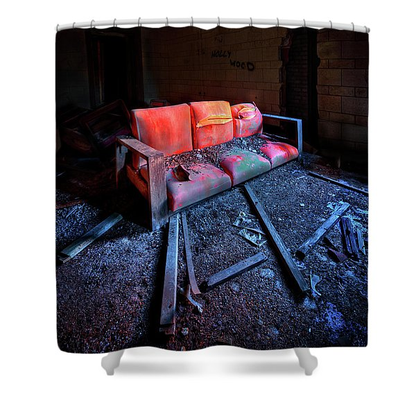 Rest In Pieces Shower Curtain by Evelina Kremsdorf