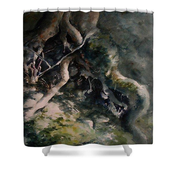 Revealed Shower Curtain by Rachel Christine Nowicki