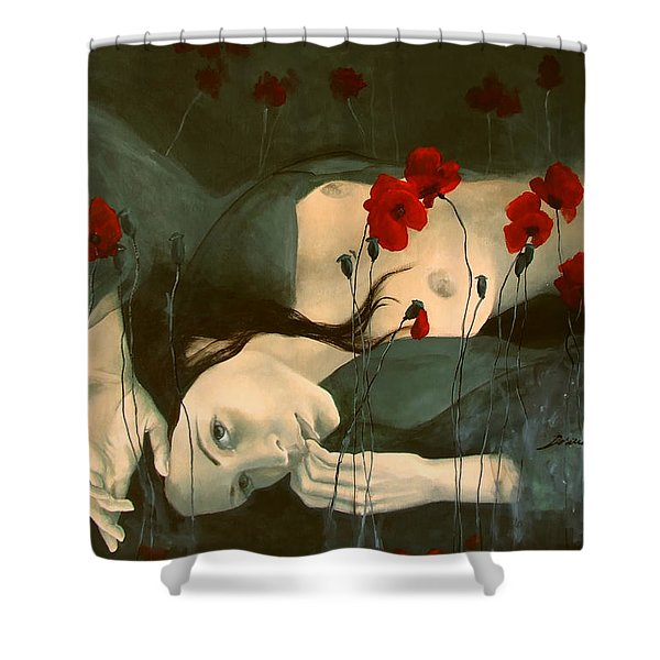 Reverie... Shower Curtain by Dorina  Costras