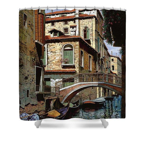 Rio Degli Squeri Shower Curtain by Guido Borelli