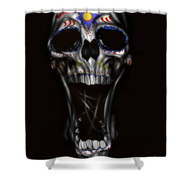 R.I.P Shower Curtain by Pete Tapang