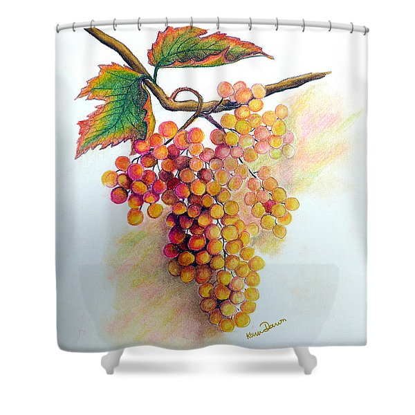 Ripe Muscats Shower Curtain by Karin Kelshall- Best