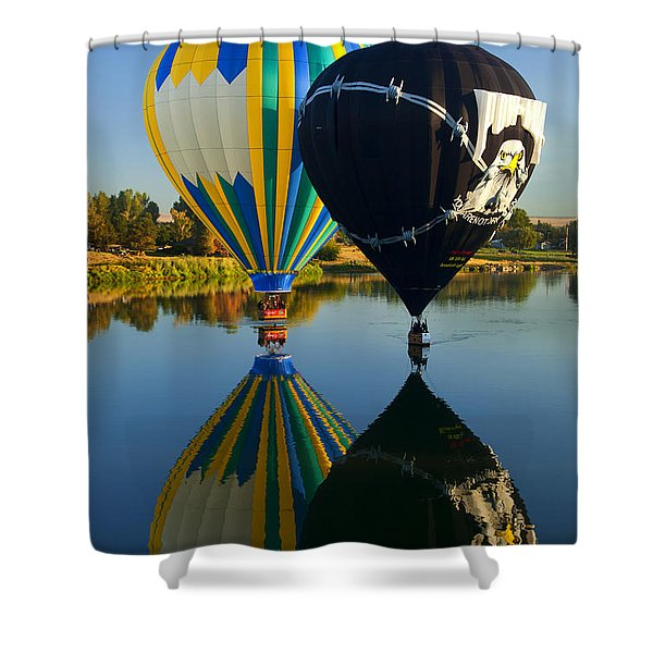 River Dance Shower Curtain by Mike  Dawson