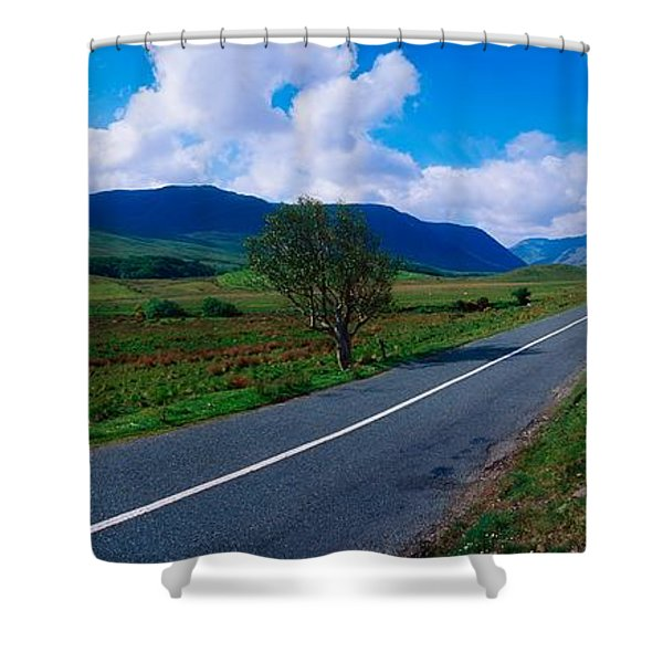 Road From Westport To Leenane, Co Mayo Shower Curtain by The Irish Image Collection