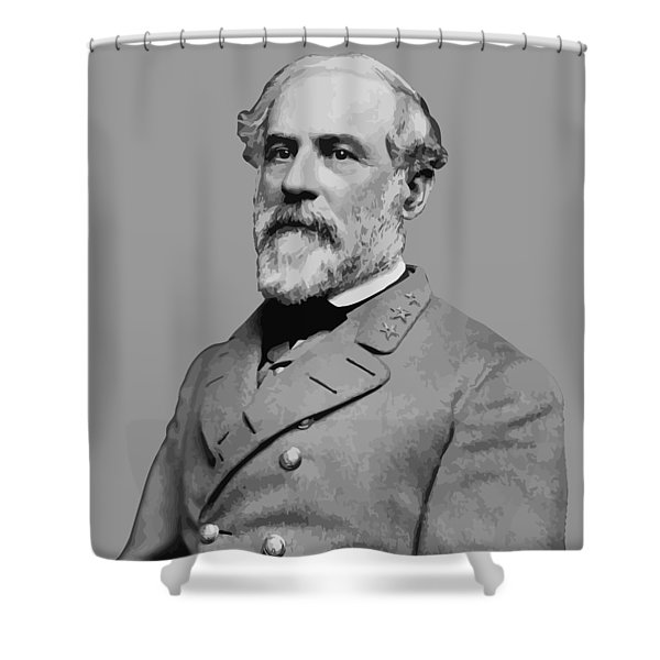 Robert E Lee Confederate Hero Shower Curtain by War Is Hell Store