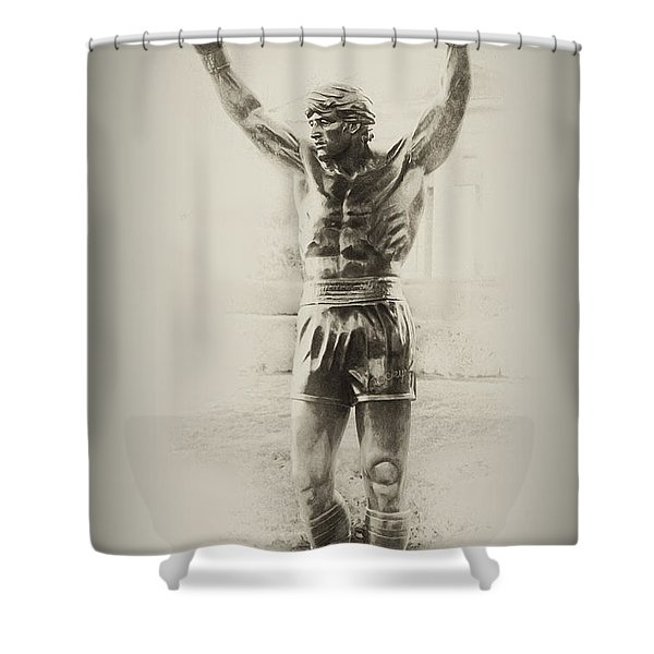 Rocky Shower Curtain by Bill Cannon