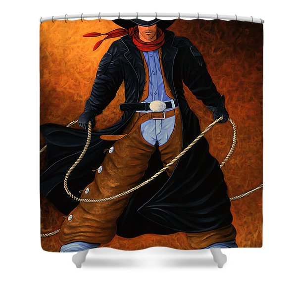 Rowdy Shower Curtain by Lance Headlee