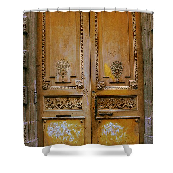 Rustic French Door Shower Curtain by Nomad Art And  Design