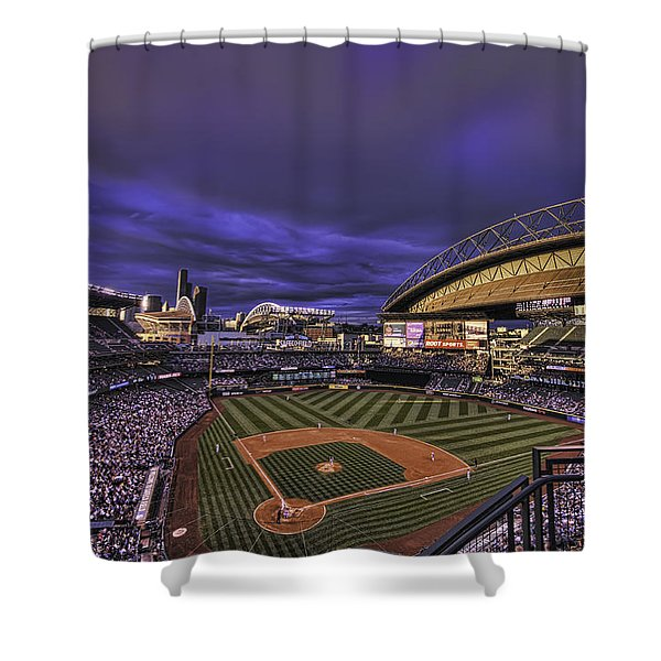 Safeco Field Shower Curtain by Dan McManus