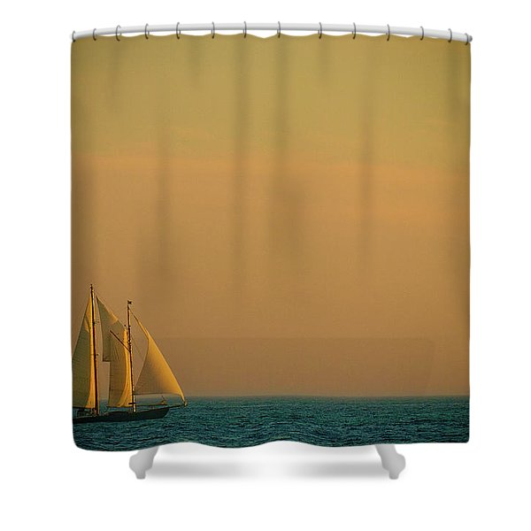 Sails Shower Curtain by Sebastian Musial